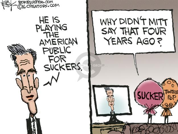 Cartoonist Chip Bok  Chip Bok's Editorial Cartoons 2016-03-04 Mitt Romney