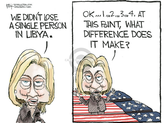 Cartoonist Chip Bok  Chip Bok's Editorial Cartoons 2016-03-18 Benghazi