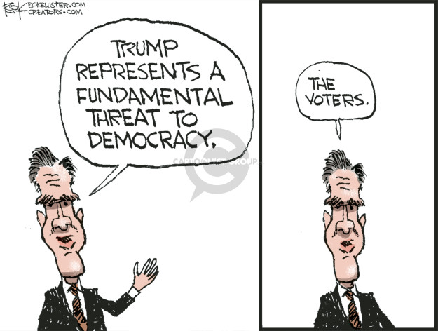 Trump represents a fundamental threat to democracy. The voters.