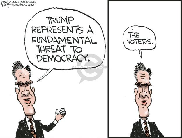 Cartoonist Chip Bok  Chip Bok's Editorial Cartoons 2016-03-19 Mitt Romney
