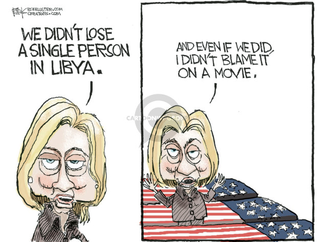 Cartoonist Chip Bok  Chip Bok's Editorial Cartoons 2016-03-20 Benghazi