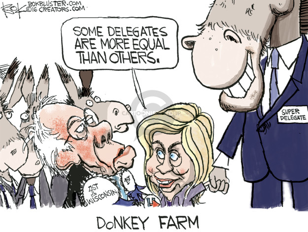 Chip Bok  Chip Bok's Editorial Cartoons 2016-04-06 Bernie Sanders