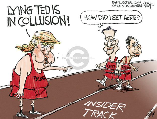 Cartoonist Chip Bok  Chip Bok's Editorial Cartoons 2016-04-26 candidate