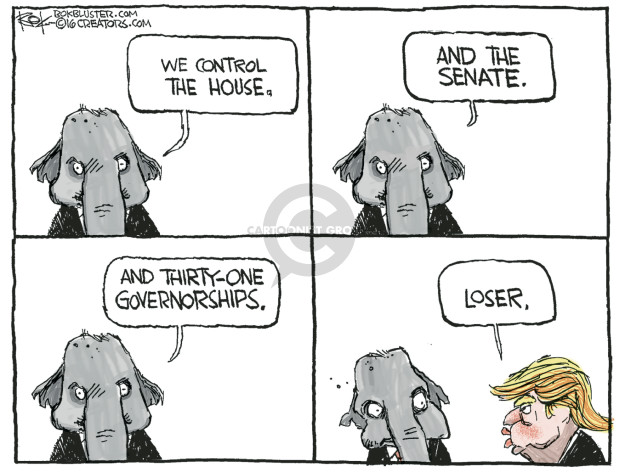 Cartoonist Chip Bok  Chip Bok's Editorial Cartoons 2016-05-03 candidates republicans