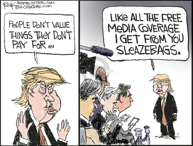 Cartoonist Chip Bok  Chip Bok's Editorial Cartoons 2016-06-01 Donald
