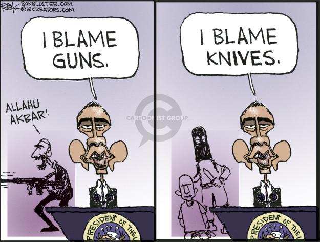 Cartoonist Chip Bok  Chip Bok's Editorial Cartoons 2016-06-13 assault weapon