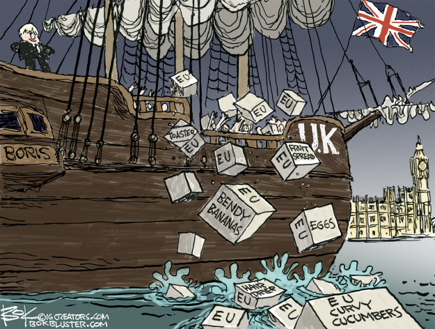 Cartoonist Chip Bok  Chip Bok's Editorial Cartoons 2016-06-24 Great Britain