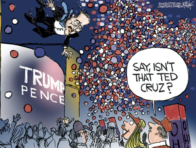 Cartoonist Chip Bok  Chip Bok's Editorial Cartoons 2016-07-22 republican convention