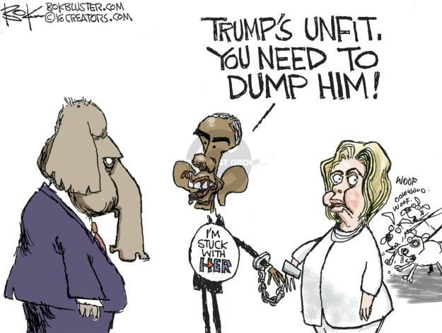 Cartoonist Chip Bok  Chip Bok's Editorial Cartoons 2016-08-02 Donald