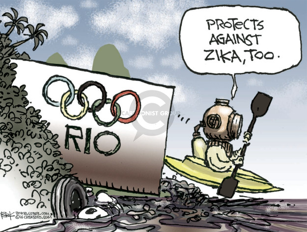 Cartoonist Chip Bok  Chip Bok's Editorial Cartoons 2016-08-05 Zika virus