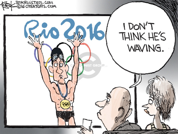 Rio 2016. I dont think hes waving.