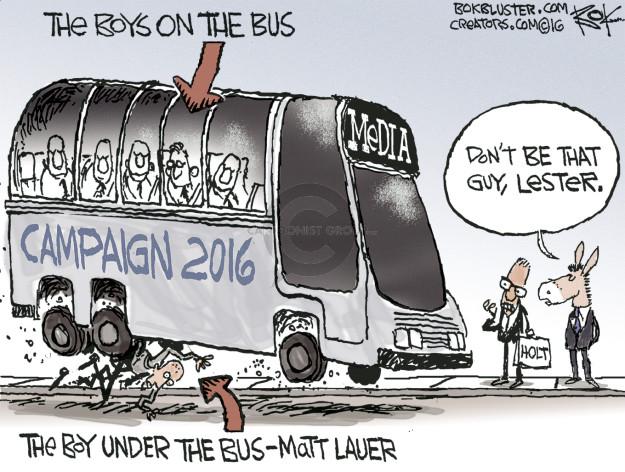Cartoonist Chip Bok  Chip Bok's Editorial Cartoons 2016-09-29 politics
