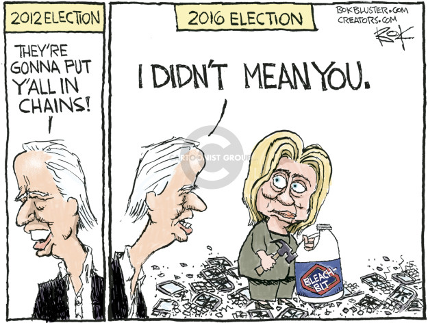 Cartoonist Chip Bok  Chip Bok's Editorial Cartoons 2016-10-09 Secretary of State