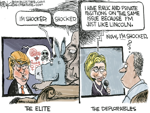 Cartoonist Chip Bok  Chip Bok's Editorial Cartoons 2016-10-11 candidates republicans