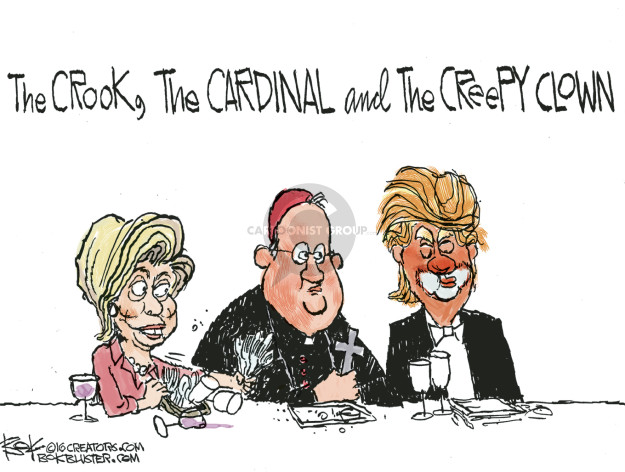 Cartoonist Chip Bok  Chip Bok's Editorial Cartoons 2016-10-21 Secretary of State