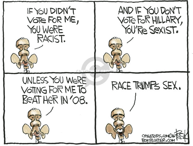 Chip Bok  Chip Bok's Editorial Cartoons 2016-11-05 race