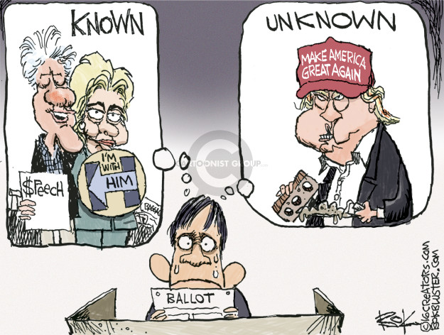 Cartoonist Chip Bok  Chip Bok's Editorial Cartoons 2016-11-08 candidates republicans