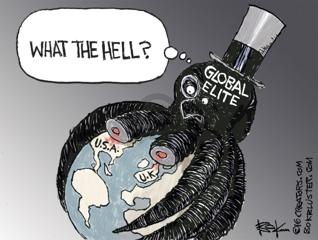 Cartoonist Chip Bok  Chip Bok's Editorial Cartoons 2016-11-11 global economy