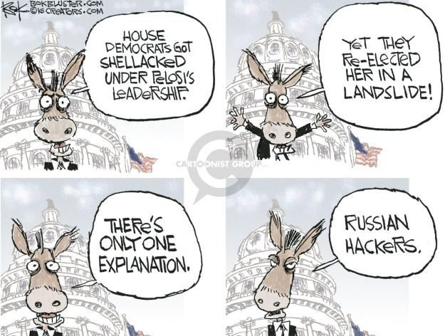 Cartoonist Chip Bok  Chip Bok's Editorial Cartoons 2016-12-01 democratic party