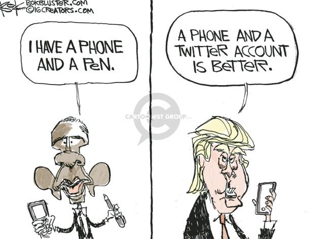 Chip Bok  Chip Bok's Editorial Cartoons 2016-12-10 presidential administration