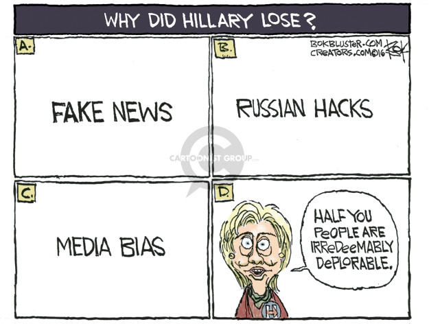 Cartoonist Chip Bok  Chip Bok's Editorial Cartoons 2016-12-16 fake news