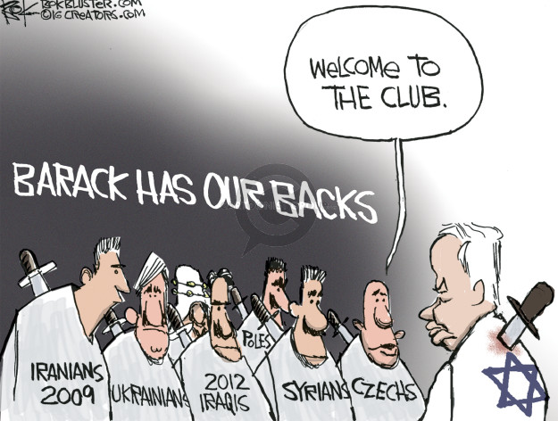 Cartoonist Chip Bok  Chip Bok's Editorial Cartoons 2016-12-27 Benjamin Netanyahu