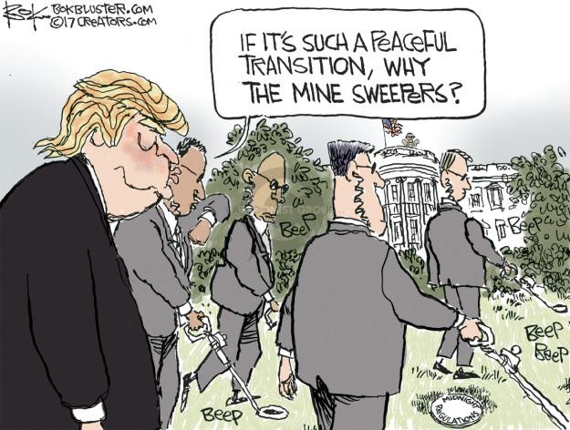 Chip Bok  Chip Bok's Editorial Cartoons 2017-01-06 presidential administration