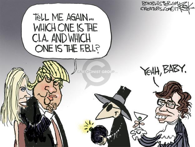 Cartoonist Chip Bok  Chip Bok's Editorial Cartoons 2017-01-16 CIA
