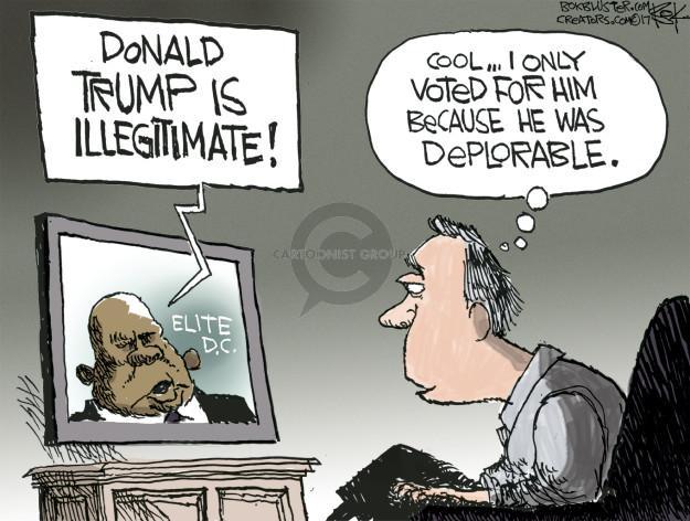 Cartoonist Chip Bok  Chip Bok's Editorial Cartoons 2017-01-18 deplorable