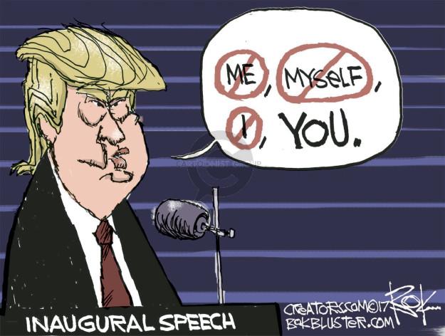 Chip Bok  Chip Bok's Editorial Cartoons 2017-01-20 presidential administration