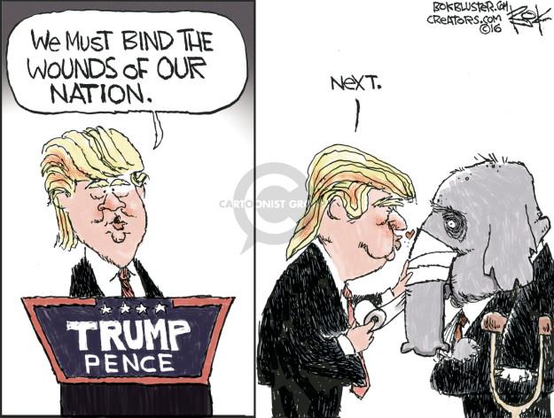 Chip Bok  Chip Bok's Editorial Cartoons 2017-01-25 presidential administration