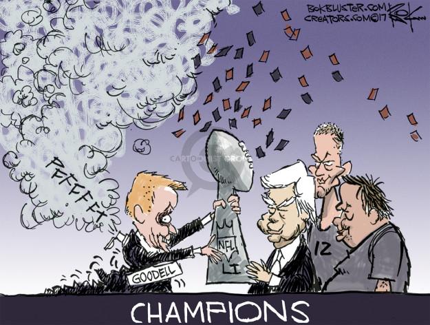 Cartoonist Chip Bok  Chip Bok's Editorial Cartoons 2017-02-06 football
