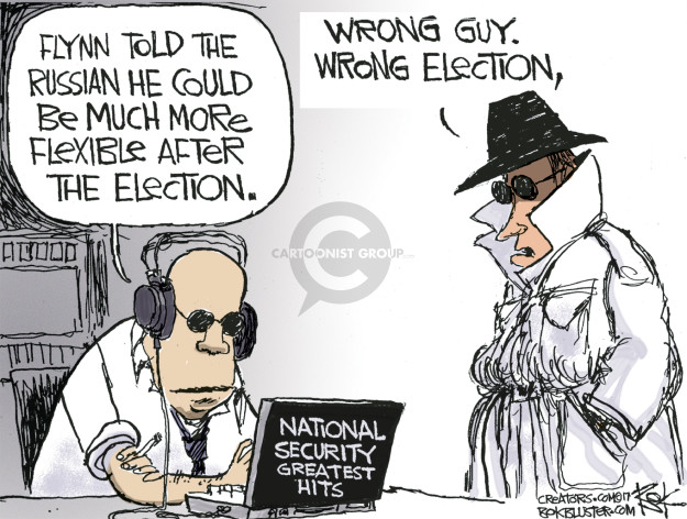 Chip Bok  Chip Bok's Editorial Cartoons 2017-02-15 presidential administration