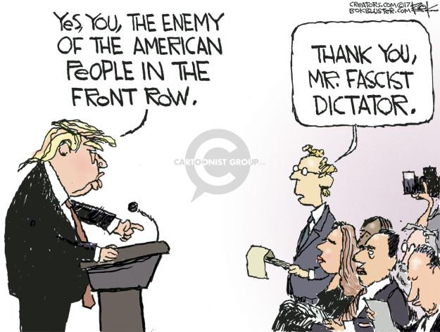 Chip Bok  Chip Bok's Editorial Cartoons 2017-02-28 Presidency