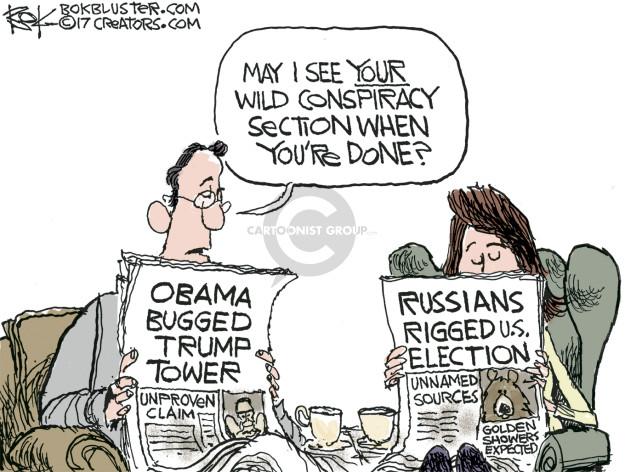 Chip Bok  Chip Bok's Editorial Cartoons 2017-03-06 Presidency