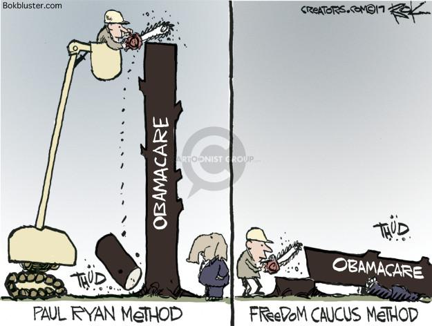 Chip Bok  Chip Bok's Editorial Cartoons 2017-03-22 freedom