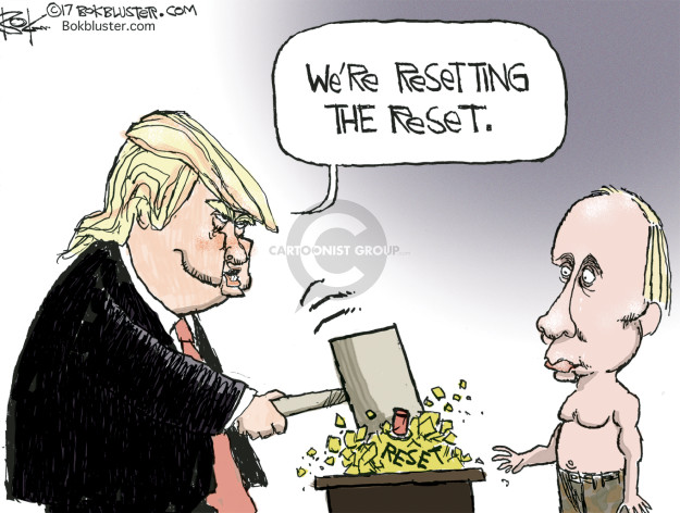 Cartoonist Chip Bok  Chip Bok's Editorial Cartoons 2017-04-12 United States and Russia