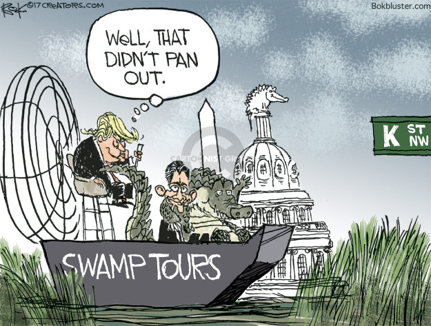 Chip Bok  Chip Bok's Editorial Cartoons 2017-05-03 swamp