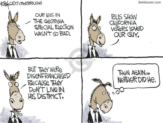 Cartoonist Chip Bok  Chip Bok's Editorial Cartoons 2017-06-22 democratic candidate