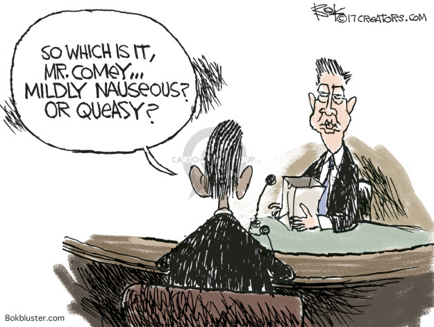 So which is it, Mr. Comey … Mildly nauseous? Or queasy?
