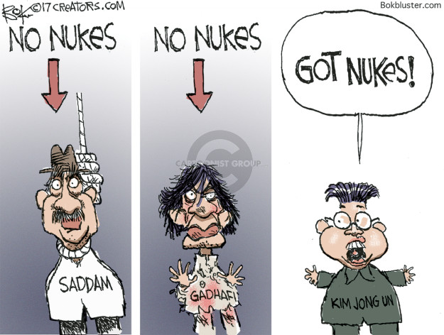 Chip Bok  Chip Bok's Editorial Cartoons 2017-07-14 nuke