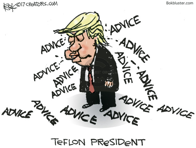 Cartoonist Chip Bok  Chip Bok's Editorial Cartoons 2017-07-22 advice