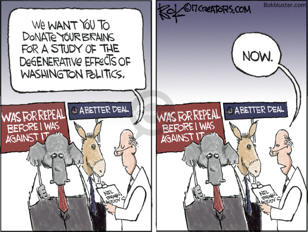 Chip Bok  Chip Bok's Editorial Cartoons 2017-07-27 republican party