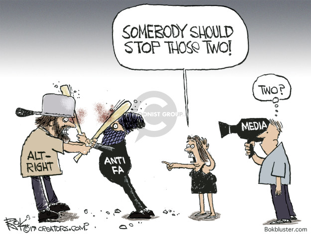 Somebody should stop those two! Alt-Right. Antifa. Media. Two?
