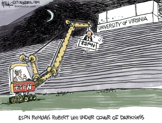 Cartoonist Chip Bok  Chip Bok's Editorial Cartoons 2017-08-24 college sports