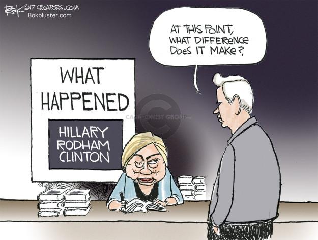 Cartoonist Chip Bok  Chip Bok's Editorial Cartoons 2017-09-14 Hillary Clinton