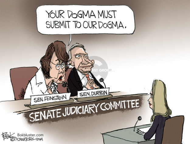 Your dogma must submit to our dogma. Sen. Feinstein. Sen. Durbin. Senate Judiciary Committee.