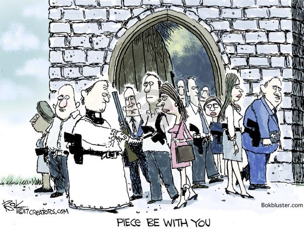 Cartoonist Chip Bok  Chip Bok's Editorial Cartoons 2017-11-09 violence