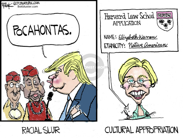 Pocahontas. Racial slur. Harvard Law School Application. Veritas. Name: Elizabeth Warren. Ethnicity: Native American. Cultural appropriation.