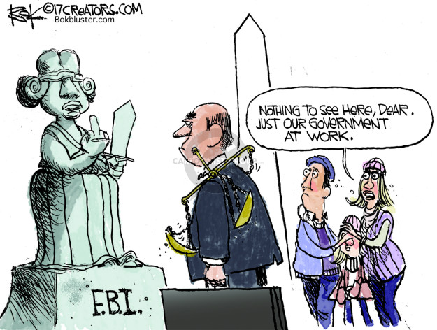 F.B.I. Nothing to see here, dear. Just our government at work.